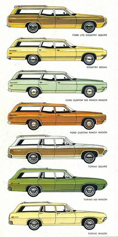1971 Ford Station Wagons