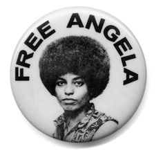 """Free Angela Davis - On Oct 1970 President Richard M. Nixon congratulated the FBI on its """"capture of the dangerous terrorist, Angela Davis"""". Davis was tried and the all-white jury returned a verdict of not guilty. Jonathan Jackson, Fred Hampton, Cogito Ergo Sum, Angela Davis, Black Panther Party, Black Panthers, Yoko Ono, Famous Black Americans, Black History Quotes"""