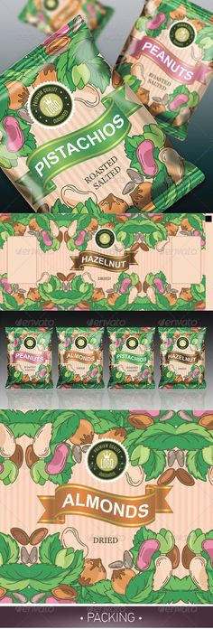 Nuts Packaging Template Vector EPS, AI. Download here: http://graphicriver.net/item/nuts-packaging/6747428?ref=ksioks