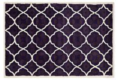 Stanton Rug, Purple/Ivory on OneKingsLane.com