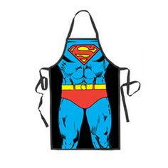 You'll look great as Superman in this apron as you tackle the barbecue. It measures 27 x 32 inches. $24.99