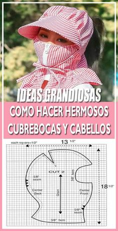 diy mascarilla Throws pillows candles baskets are great items for winter decor. Corset Sewing Pattern, Pattern Drafting, Dress Sewing Patterns, Sewing Patterns Free, Clothing Patterns, Baby Hats Knitting, Knitted Hats, Bob Bebe, Sewing Hacks