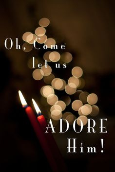 """I don't believe Jesus was born on December 25 (or even in the winter for that matter). But there is something that hits my heart so hard about this song and the way we SEE and react to Jesus. """"O come let us ADORE him"""""""
