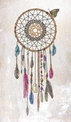 Lakota (Dream Catcher) Art Print by Rachel Caldwell | Society6