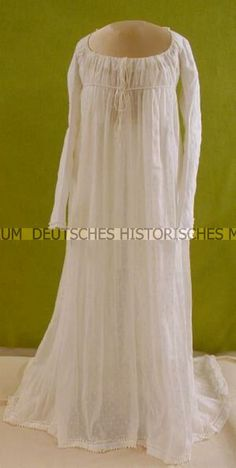 Dress: ca. 1803, cotton, embroidered linen weave.