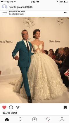 Randy Fenoli first wedding dress collection runway 2017