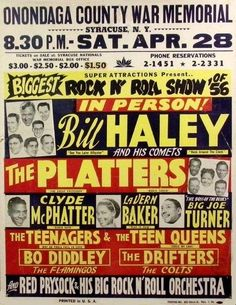 Biggest Rock 'N' Roll Show of 1956. Syracuse, NY April 28, 1956