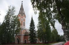 Multia Church in Multia, Finland, The wooden church was built by Matti Åkergren in 1796 and renovated in 1900.