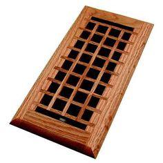 6 x 14 mission maple flush mount floor register wood ventures floor registers registers