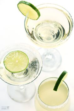 Champagne Margaritas....I chilled the lime juice, tequila and triple sec in a pitcher and added the champagne just before serving. They go fast! They are so good!!