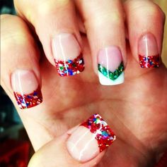 #party #nails #style #deco #christmas
