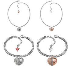 Guess Heart & Soul Necklaces & Bracelet