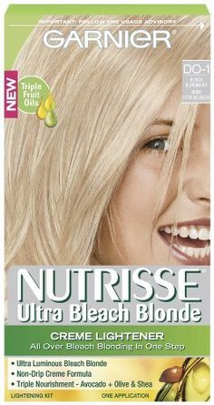 Garnier Nutrisse Hair Color, Ultra Bleach Blond Creme Lightener Do-1 ** You can…