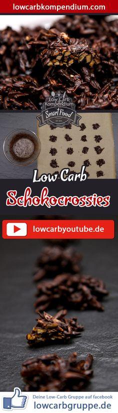 (Low Carb Kompendium) – Schokocrossies sind schon eine tolle Nascherei. Dieses Rezept zeigt dir wie du in kurzer Zeit einen Low-Carb Schoko-Mandel-Snack zubereitest, den du ganz ohne schlechtes Gewissen genießen kannst. Doch vorsicht: Die Low-Carb Schokocrossies haben es wirklich in sich und auch wenn die zubereitete Menge zunächst nach wenig aussieht, füllt sie sehr schnell. Und nun wünschen wir dir viel Spaß beim Nachkochen, LG Andy & Diana.