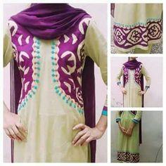Pakistani Bridal Wear, Pakistani Dresses, Applique Dress, Embroidery Dress, Shirt Design For Girls, Ethnic Gown, Kurti Patterns, Applique Designs, Clothing Patterns