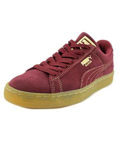 PUMA PUMA SUEDE CLASSIC GF MEN  ROUND TOE SUEDE BURGUNDY SNEAKERS'. #puma #shoes #sneakers