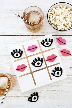 Outdoor games to DIY this summer for backyard barbecues. Cute Crafts, Diy Crafts, Beautiful Mess, Tic Tac Toe Board, Tic Tac Toe Game, Backyard Games, Outdoor Games, Diy For Kids, Crafts For Kids