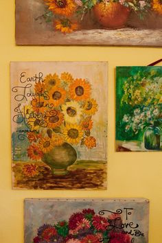 JUNK GYPSY Trash-to-Treasure Projects \ old oil paintings embellished with quotes and rhinestones | Junk Gypsies | GAC