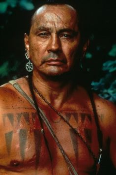Russell Means as Chingachgook in The Last of the Mohicans--actor-activist-good man