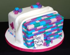 Girl Lego Themed Cake