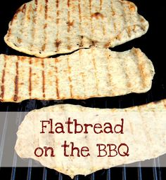 Frugal Family Times: Recipe: Homemade Flatbread on the BBQ Tailgating Recipes, Barbecue Recipes, Grilling Recipes, Cooking Recipes, Potluck Recipes, Barbecue Sauce, Dinner Recipes, Grilled Flatbread, Grilled Bread