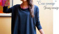 Mi primera máquina de coser: Cose conmigo: jersey oversize http://miprimeramaquinadecoser.blogspot.com.es/2014/03/cose-conmigo-jersey-oversize.html  tutorial pattern patrón free gratis