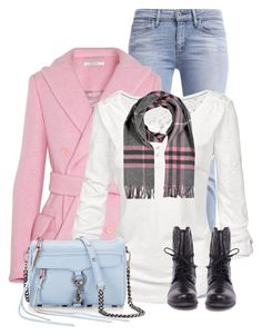 """Pink Coat"" by daiscat ❤ liked on Polyvore featuring Levi's, Carven, Fat Face, Burberry, Rebecca Minkoff, Steve Madden, women's clothing, women's fashion, women and female"