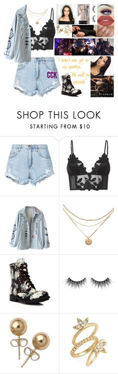 """fallen pigeon 🌙 maisie 🌙"" by lostboyys ❤ liked on Polyvore featuring Nobody Denim, Fleur du Mal, Ash, Huda Beauty, Smashbox, Bling Jewelry and Luv Aj"
