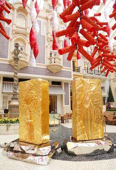 GOLD BRICK series sculptures by Wang Kaifang 王开方《金砖》系列雕塑作品