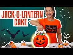 How To Make A JACK-O-LANTERN Halloween Candy Pail Out Of CAKE  | Yolanda Gampp | How To Cake It - YouTube