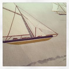 Cross stitch yacht.