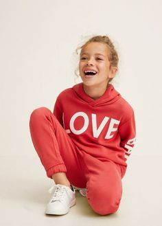 Love Cotton Jogging Trousers By Mango Manga, Elastic Waist, Baby Kids, Trousers, Graphic Sweatshirt, Children, Sweatshirts, Sweaters, Fabric