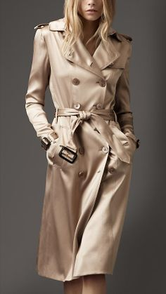 Satin Trench Coat. I have this satin trench but it s finished with black  satin piping 502f1ff844