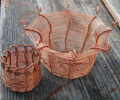 Copper Wire Wrapped Baskets | Flickr - Photo Sharing!