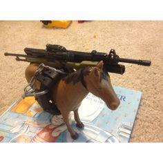 Urban combat horse