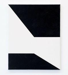 JOHN NIXON Black and White 2015  enamel on canvas  51.9 x 40.7cm (exhibition concludes tomorrow) #johnnixon #sarahcottiergallery
