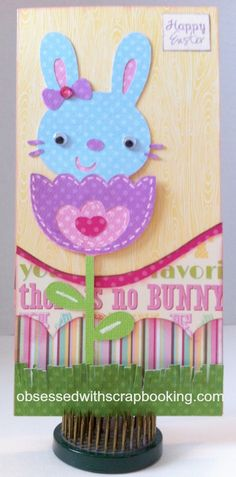 Obsessed with Scrapbooking: Some Bunny Loves You Card and GIVEAWAY!