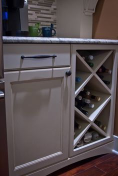 built in wine rack - would turn sideways and put above fridge
