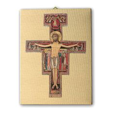 98fc8cc7ea3 Cuadro sobre tela pictórica Crucifijo de San Damián 70x50 cm