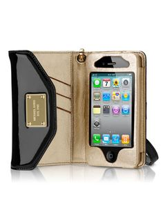 MICHAEL Michael Kors iPhone Wristlet, Black - Michael Kors  Now if they just had one for iPhone 5s!