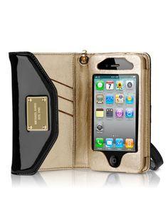 MICHAEL Michael Kors iPhone Wristlet, Black.
