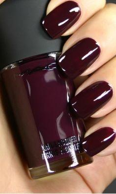 Incredible burgundy nails