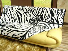 Príjemná teplá deka z akrylu vzor zebry