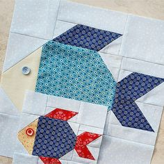Fish Quilt Pattern, Boys Quilt Patterns, Paper Piecing Patterns, Quilting Projects, Quilting Designs, Sewing Projects, Diy Projects, Quilt Design, Boy Quilts