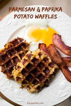 Parmesan & Paprika Potato Waffles - these delicious potato waffles are ...
