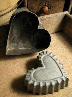 Vintage heart molds.