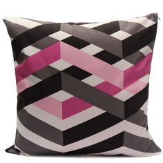 Square Stripe Throw Cushion Cover - Pink Striped Cushions, Throw Cushions, Lilac, Pink, Indoor, Cover, Shades, Collection, Interior