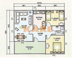 Yeni Moda Tek katlı ev planları plan örnekleri
