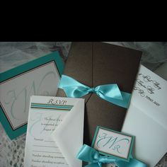 96c9ef0ed0bb Wedding colors. Tiffany blue and chocolate brown. Don t want invites like  this