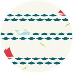 Jay-Cyn Designs for Birch Fabrics Organic, Set Sail, Set Sail Cream